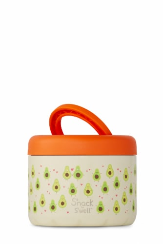 S'nack by S'well Avocado Vacuum-Insulated Stainless Steel Food Container Perspective: front