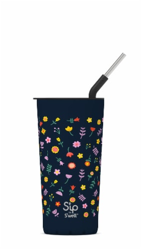 S'ip by S'well Wildflower Stainless Steel Takeaway Tumbler Perspective: front
