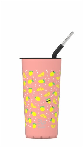 S'ip by S'well Chill Lemon Stainless Steel Takeaway Tumbler Perspective: front