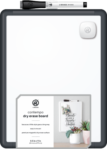U Brands Contempo Dry Erase Board - Assorted Perspective: front