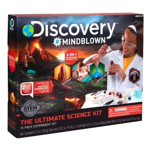 Discovery Mindblown Toy Kids Science Ultimate Experiment Kit Perspective: front