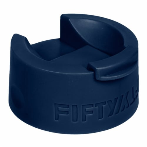 Fifty/Fifty Coffee Flip Top Cap - Navy Blue Perspective: front
