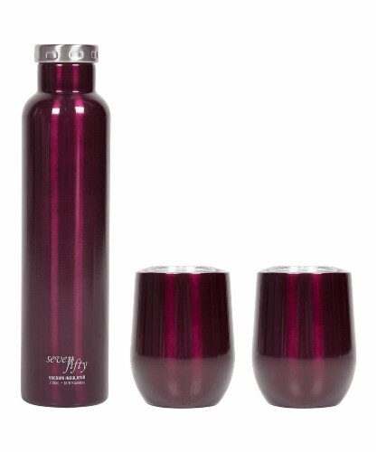 Seven Fifty Wine Growler and Tumbler Set - Burgundy Perspective: front