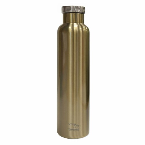 Seven Fifty Wine Growler - Champage Gold Perspective: front