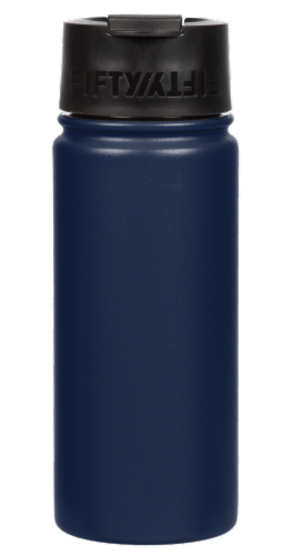 Fifty/Fifty Flip Cap Water Bottle - Navy Perspective: front
