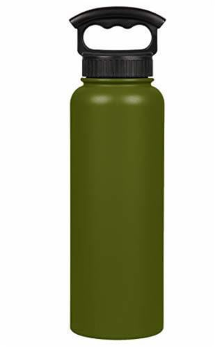 Fifty/Fifty  Bottle With 3 Finger Grip Cap Olive Green Perspective: front