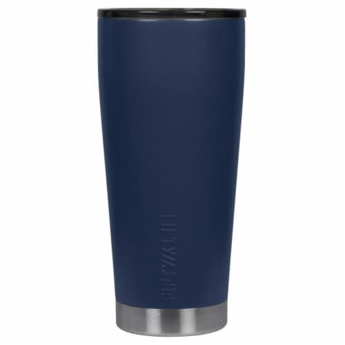 Icy-Hot Hydration 20 oz Vacuum-Insulated Tumbler with Smoke Cap - Navy Blue Perspective: front