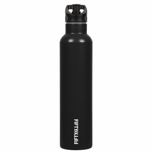 Fifty/Fifty Two Finger Grip Bottle - Black Perspective: front