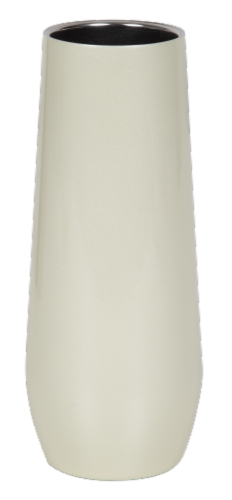 Fifty/Fifty Thermal Champagne Flute - Pearl White Perspective: front