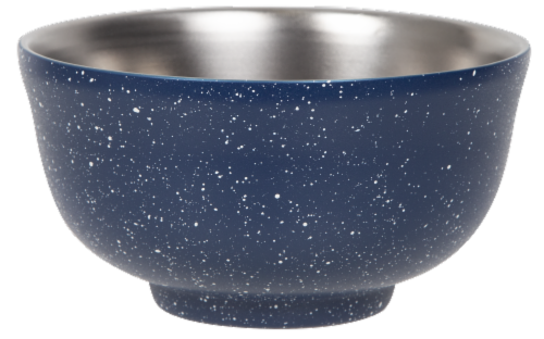 FIfty/Fifty Insulated Bowl & Lid - Speckled Navy Perspective: front