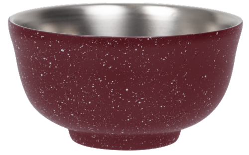 Fifty/Fifty Vacuum Insulated Bowl & Lid - Speckled Brick Red Perspective: front