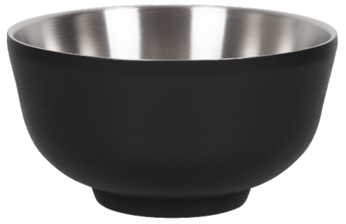 Fifty/Fifty Vacuum Insulated Bowl & Lid - Black Perspective: front