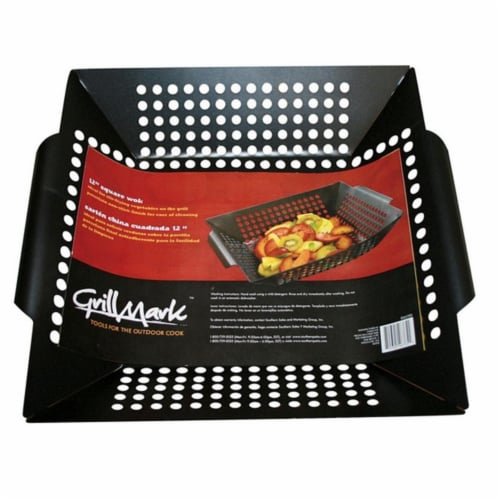 Grill Mark 98121A Steel Square Grill Topper Wok Perspective: front