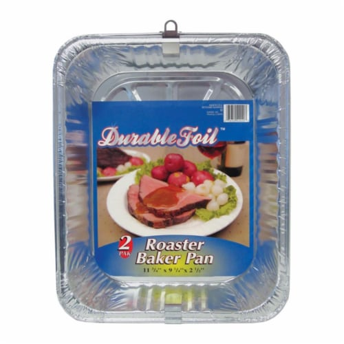 Home Plus 6391981 9.25 x 11.75 in. Durable Foil Roaster Pan - Silver- pack of 12 Perspective: front