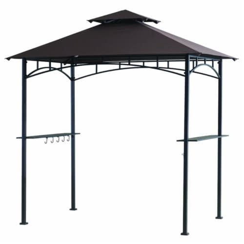 Living Accents Polyester Grill Gazebo 8 ft. H x 5 ft. W - Case Of: 1; Perspective: front