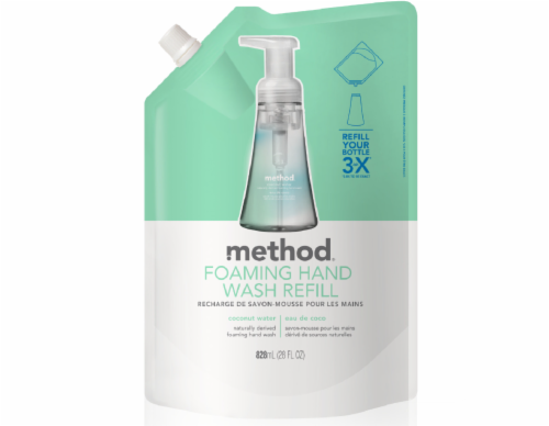 Method Coconut Water Foaming Hand Wash Refill Perspective: front