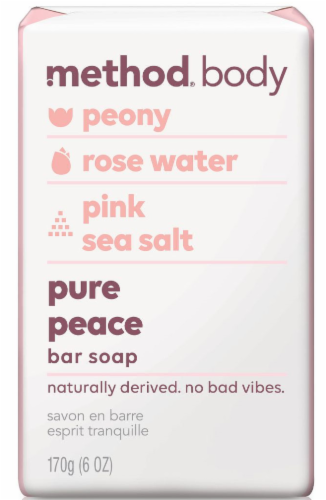 Method Women's Pure Peace Bar Soap Perspective: front