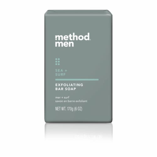 Method Men's Sea & Surf Exfoliant Bar Soap Perspective: front