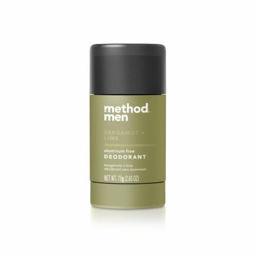 Method Men Bergamot + Lime Aluminum Free Deodorant Perspective: front
