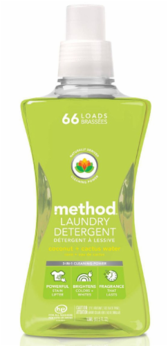 Method Coconut Cactus Water Laundry Detergent Perspective: front