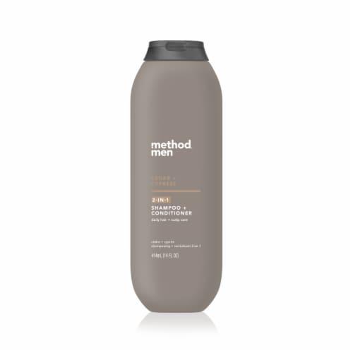 Method Men Cedar + Cypress 2-in-1 Shampoo & Conditioner Perspective: front