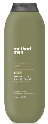Method Men Bergamot & Lime 2-In-1 Shampoo & Conditioner Perspective: front