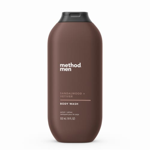 Method Men Sandalwood + Vetiver Body Wash Perspective: front