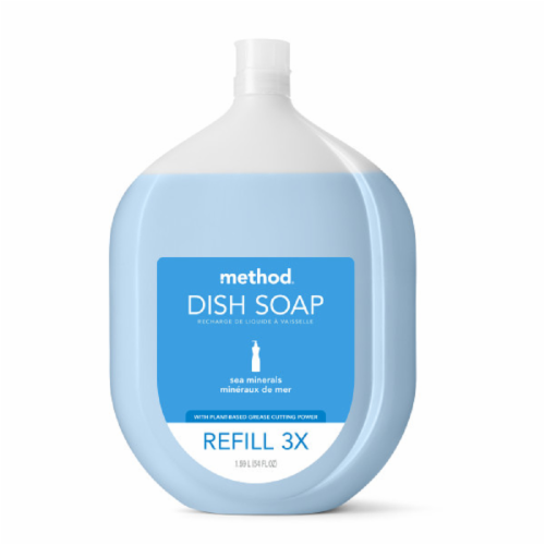 Method® Sea Minerals Dish Soap Refill Perspective: front