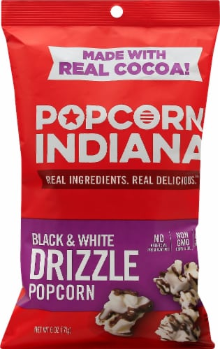 Dillons Food Stores Popcorn Indiana Black White Drizzle Popcorn 6 Oz