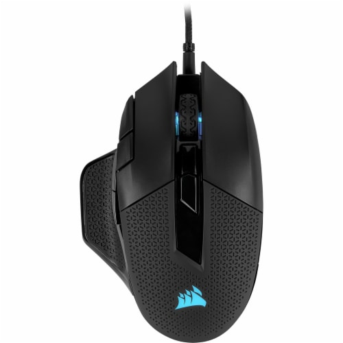 Corsair NightSword RGB Performance Tunable Gaming Mouse Perspective: front