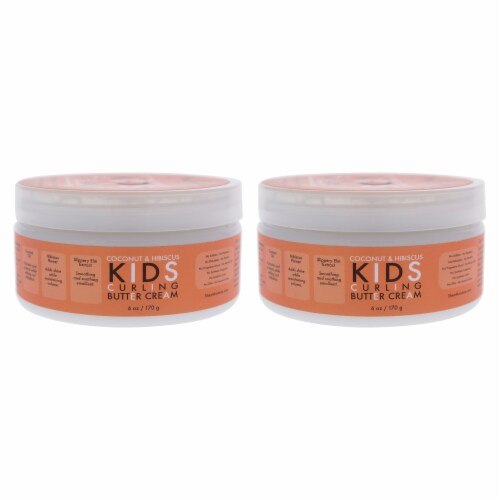 Shea Moisture Coconut & Hibiscus Kids Curling Butter Cream  Pack of 2 6 oz Perspective: front