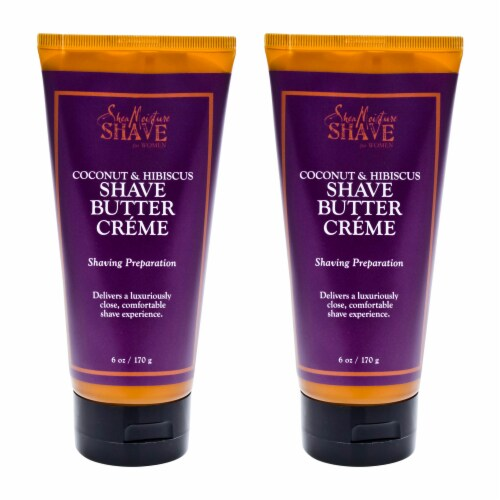 Shea Moisture Coconut & Hibiscus Shave Cream For Women  Pack of 2 6 oz Perspective: front