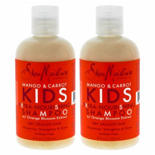 Shea Moisture Mango & Carrot Kids ExtraNourishing Shampoo  Pack of 2 8 oz Perspective: front