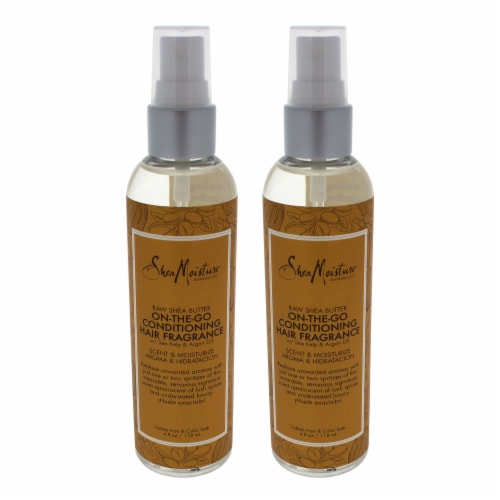 Shea Moisture Raw Shea Butter OnTheGo Conditioning Hair Fragrance  Pack of 2 Spray 4 oz Perspective: front