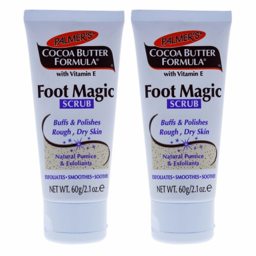 Palmers Cocoa Butter Foot Magic Scrub  Pack of 2 2.1 oz Perspective: front