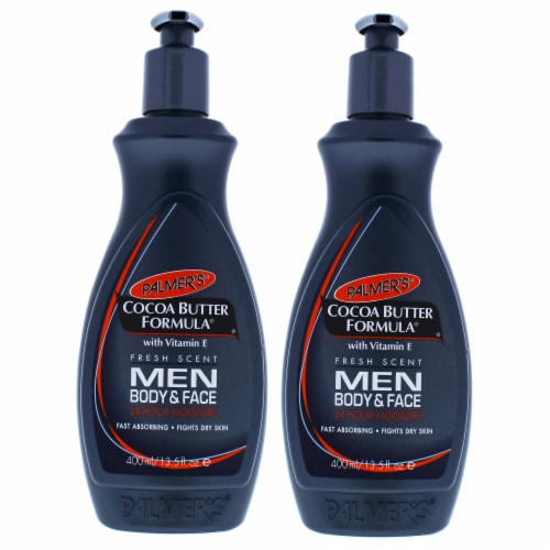 Palmers Cocoa Butter Men Body and Face Lotion  Pack of 2 Body Lotion 13.5 oz Perspective: front