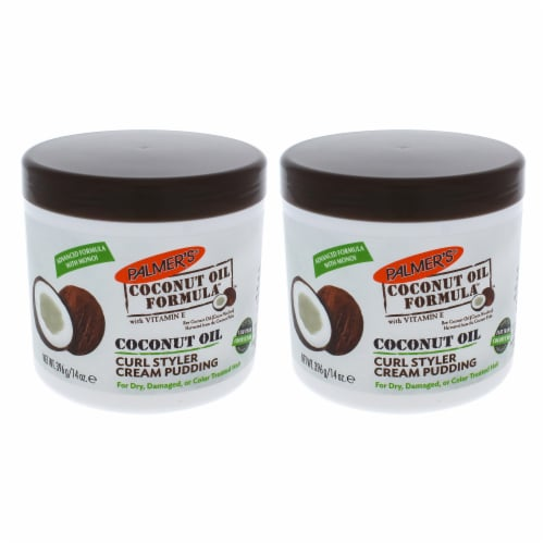 Palmers Coconut Oil Curl Styler Cream Pudding  Pack of 2 14 oz Perspective: front