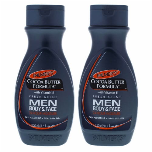 Palmers Cocoa Butter Men Body and Face Lotion  Pack of 2 Body Lotion 8.5 oz Perspective: front