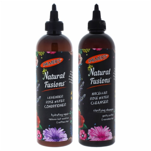 Palmers Natural Fusions Micellar Rose Water Cleanser Clarifying Shampoo  Pack of 2 12 oz Perspective: front