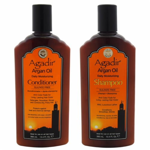 Argan Oil Daily Moisturizing Shampoo and Conditioner Kit Perspective: front