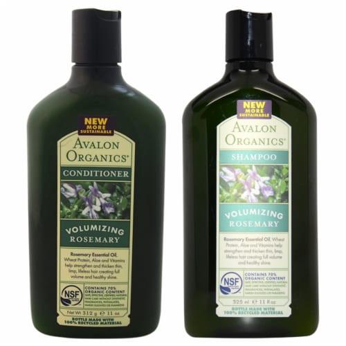 Avalon Organics Organics Volumizing Rosemary Shampoo and Conditioner Kit 11oz Shampoo, 11oz C Perspective: front