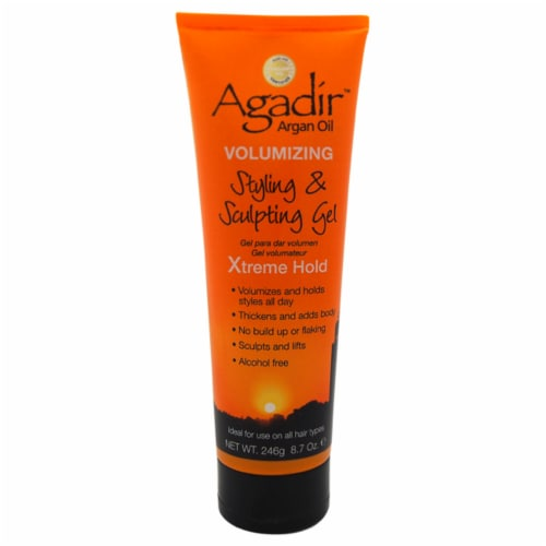 Argan Oil Volumizing Styling Sculpting Gel Xtreme Hold by Agadir for Unisex - 8.7 oz Gel Perspective: front