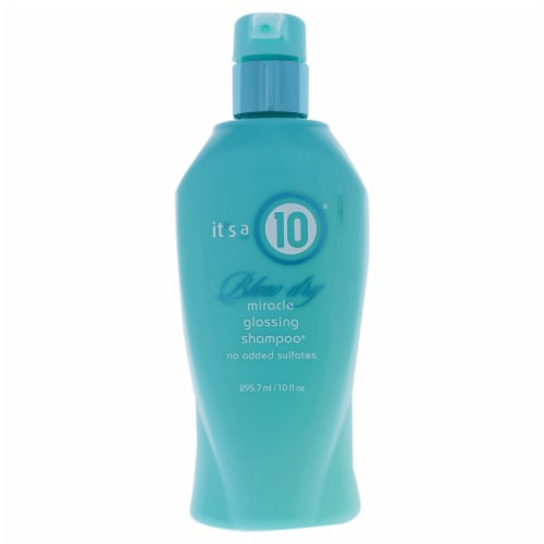 Miracle Blow Dry Glossing Shampoo by Its A 10 for Unisex - 10 oz Shampoo Perspective: front