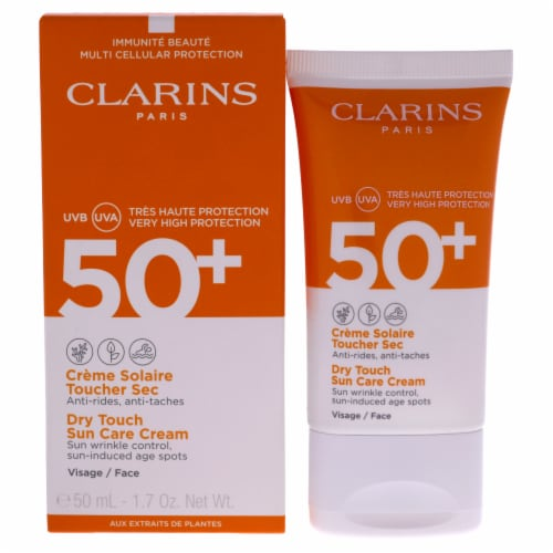 Clarins Dry Touch Sun Care Cream Sunscreen 1.7 oz Perspective: front