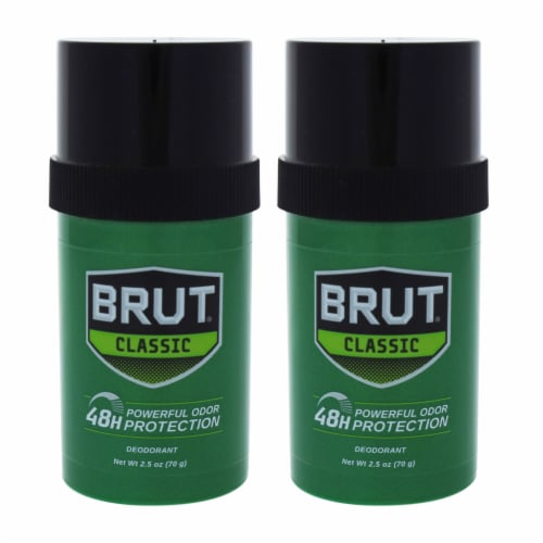 Faberge Co. Brut  Pack of 2 Deodorant Stick 2.5 oz Perspective: front
