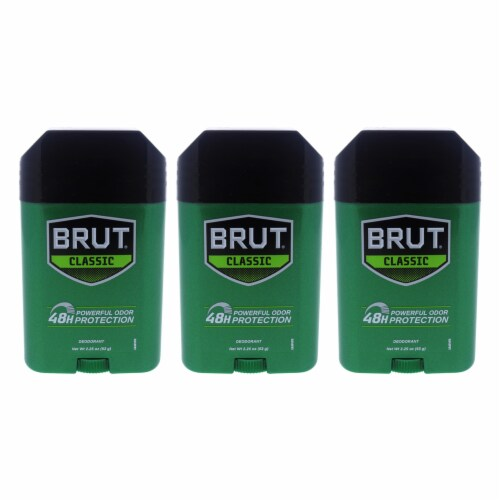 Brut Classic 48H Protection Deodorant Stick  Pack of 3 2.25 oz Perspective: front