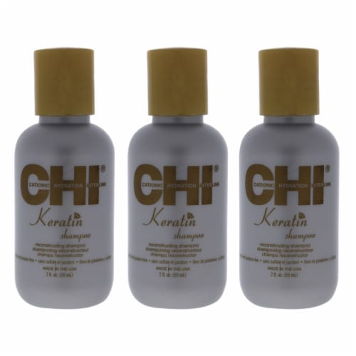 CHI Keratin Reconstructing Shampoo for Unisex - 2 oz Shampoo - Pack of 3 Perspective: front