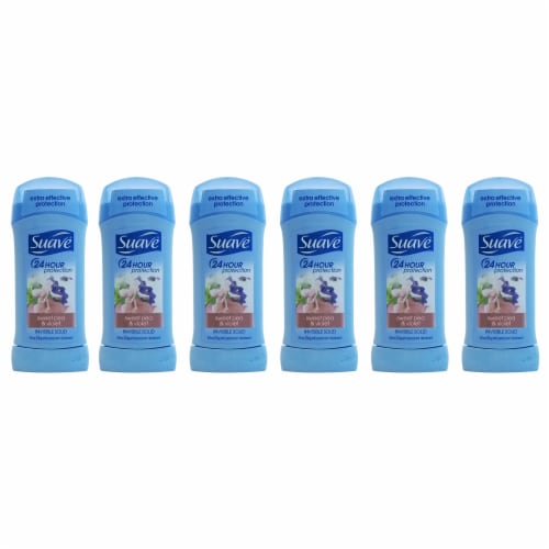 Suave 24 Hour Protection Invisible Solid AntiPerspirant Deodorant Sweet Pea and Violet  Pack Perspective: front