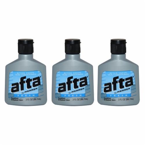 Mennen Afta After Shave Skin Conditioner Fresh  Pack of 3 After Shave Conditioner 3 oz Perspective: front