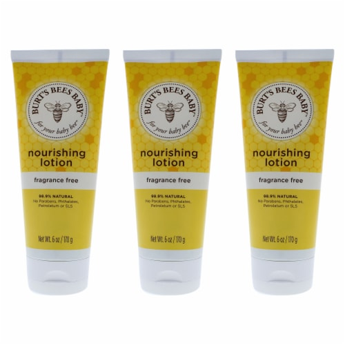 Burt's Bees Baby Bee Nourishing Lotion Fragrance Free  Pack of 3 6 oz Perspective: front